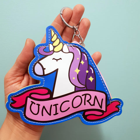 Coin Purse Keyring - Unicorn