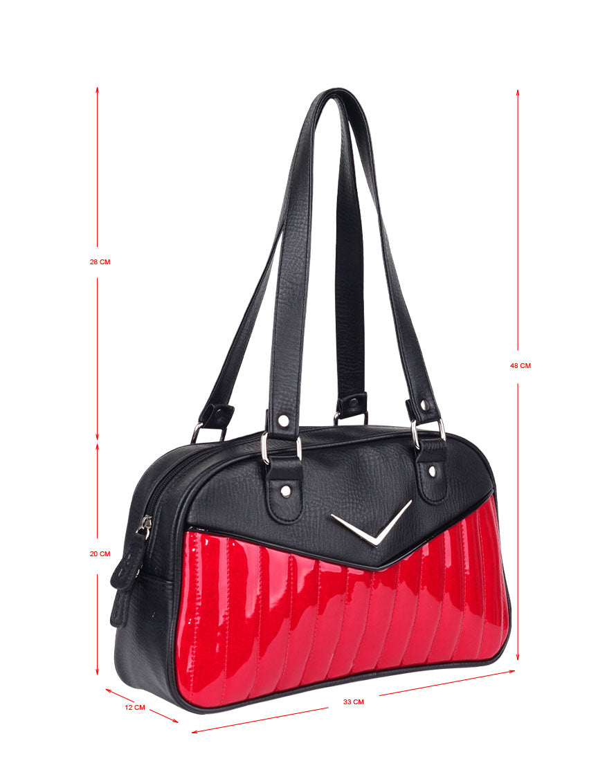 Bonneville Bowler Purse - Red