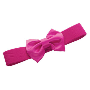 50s Bow Belt - WOW Pink!