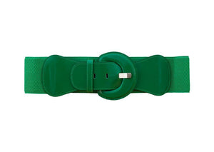Patent Waist Stretch Belt - Green