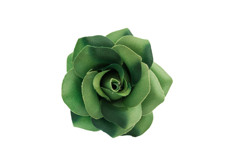 Rose Hair Clip & Brooch 7cm – Forest Green