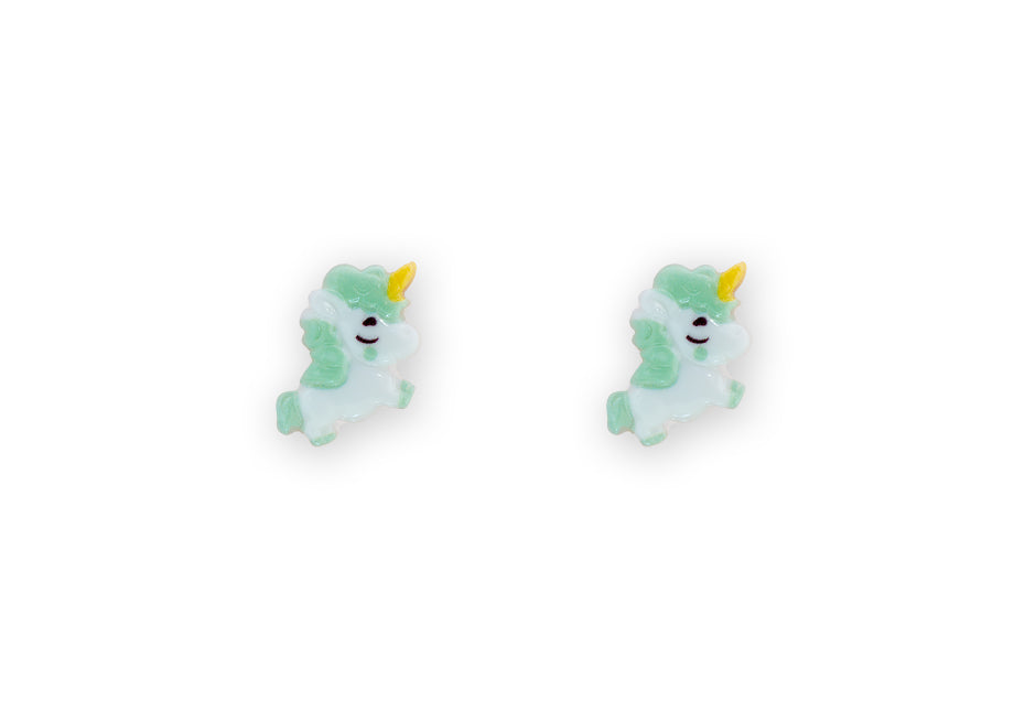 Flying Unicorn Studs Green