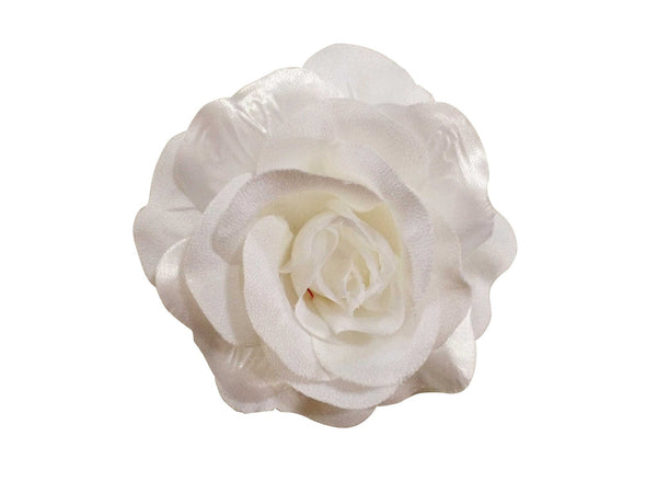 Rose Hair Clip & Brooch 11cm –  Very White