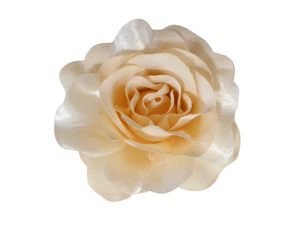 Rose Hair Clip & Brooch 11cm –  Vintage Cream