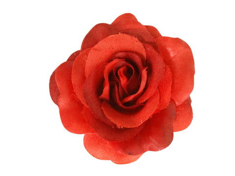 Rose Hair Clip & Brooch 11cm –  Red Rose