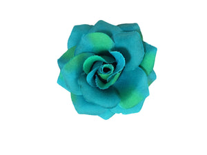 Rose Hair Clip & Brooch 7cm – Tropical Teal