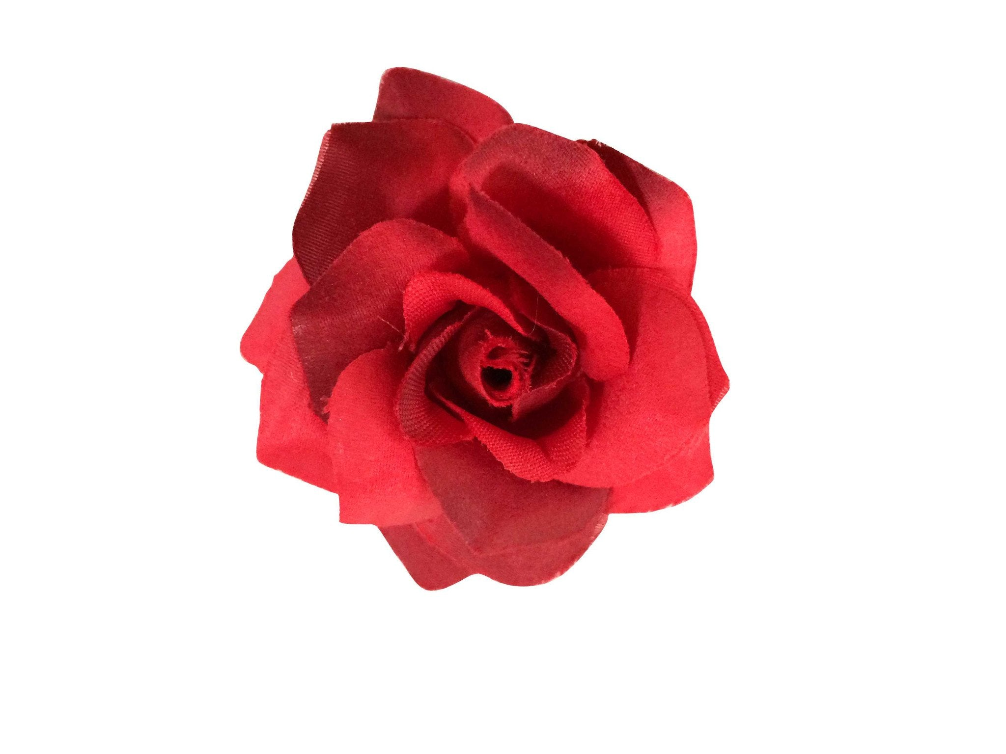Rose Hair Clip & Brooch 7cm –  Red Rose