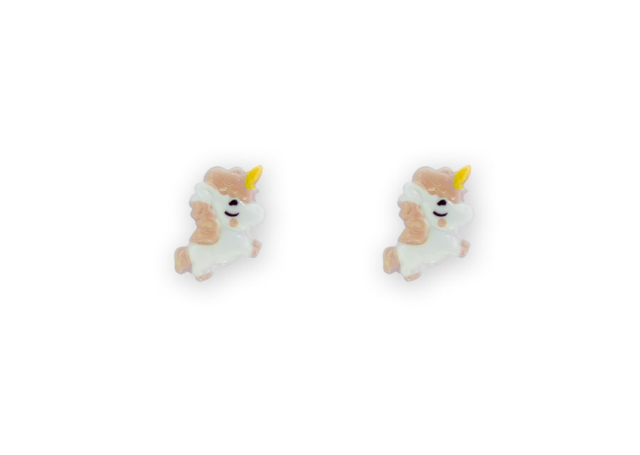 Flying Unicorn Studs Peach