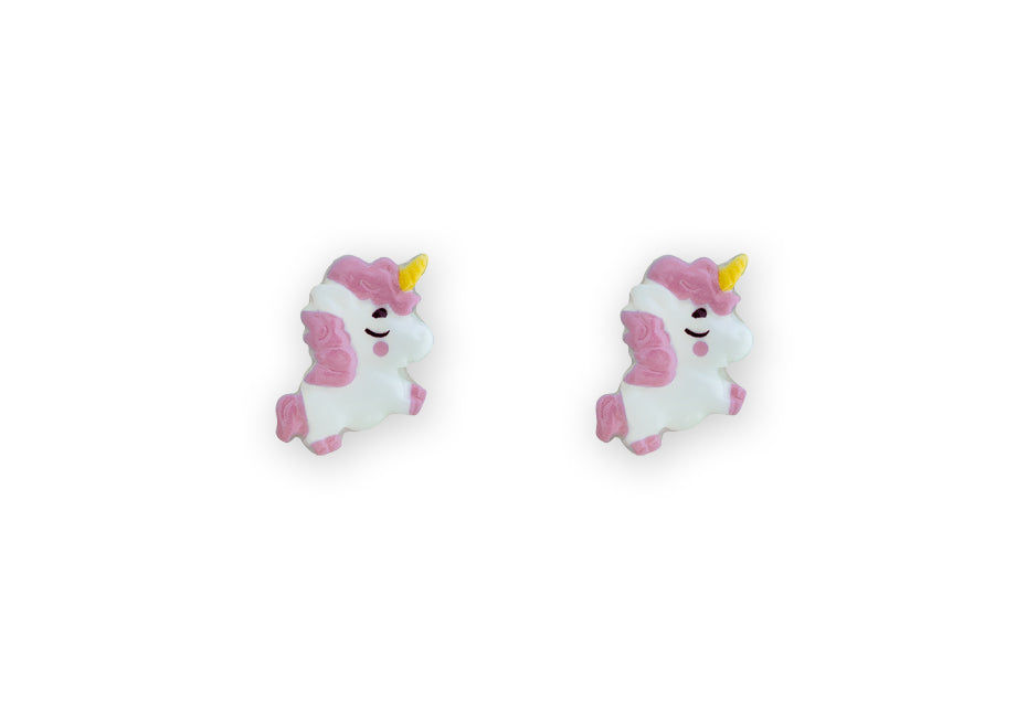 Flying Unicorn Studs Pink