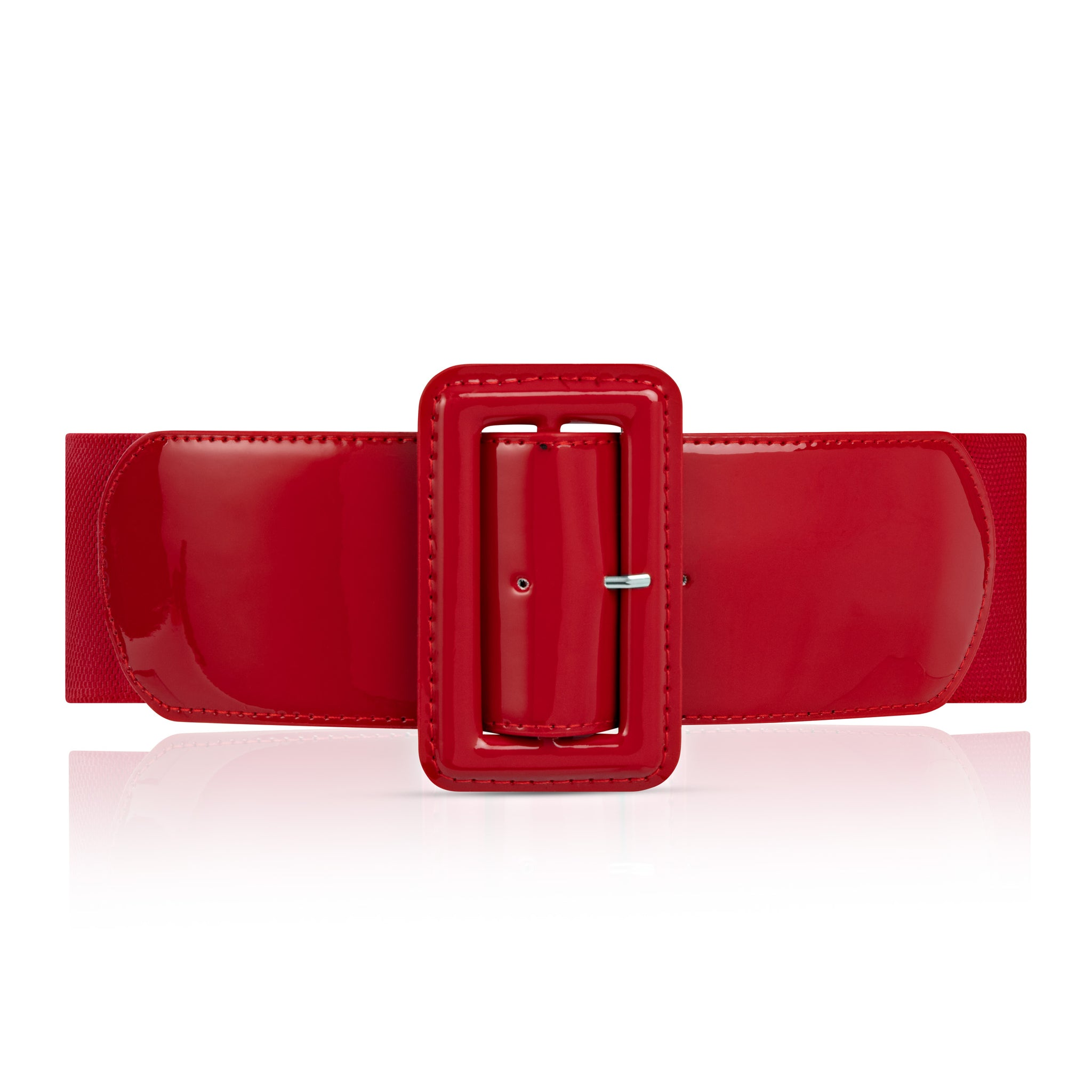 Brooklyn High Waist Belt - Retro Red