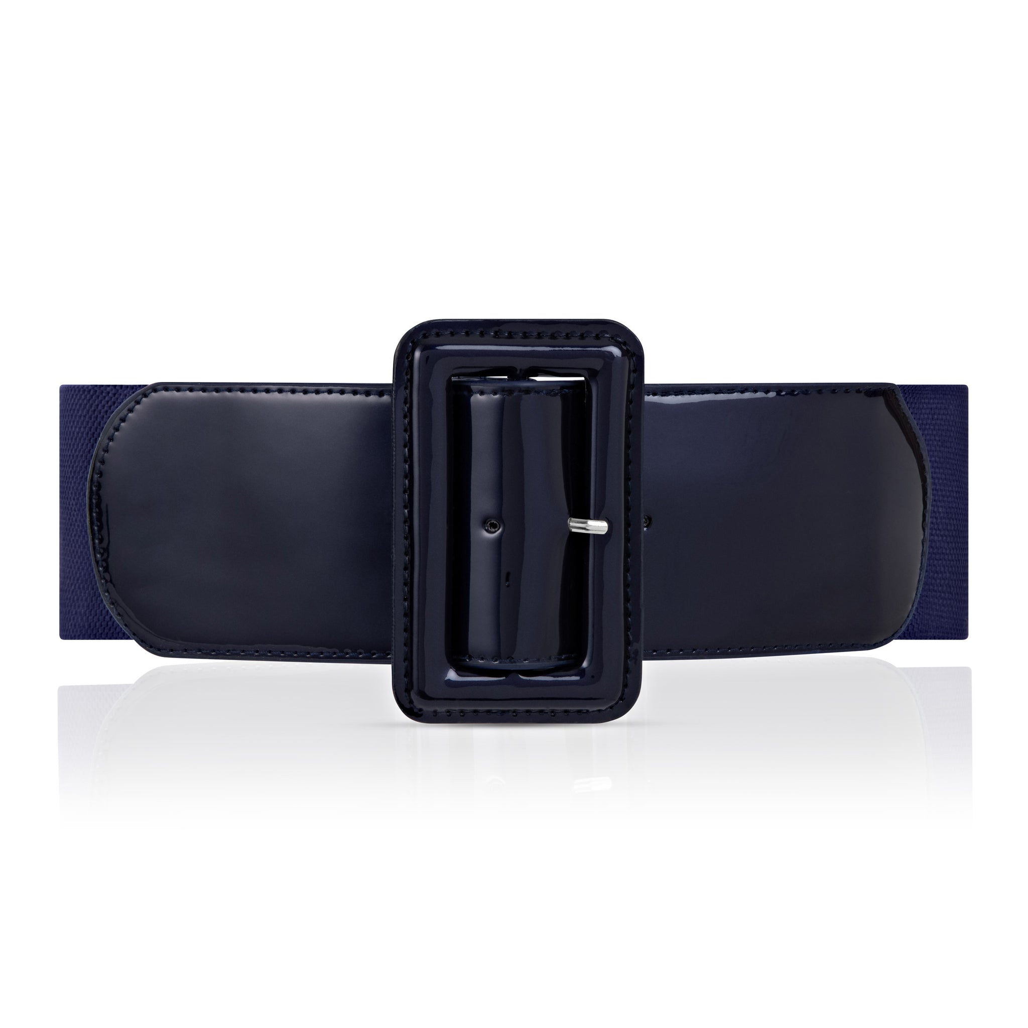 Brooklyn High Waist Belt - Navy Shimmer