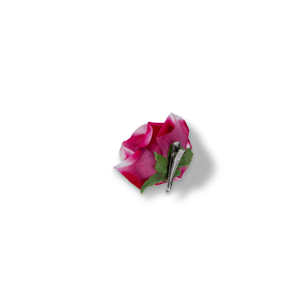 Pink Velvet Hair Rose - Small