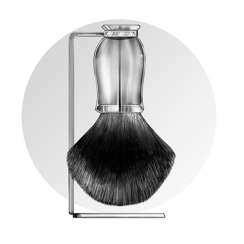 Grown Man Shave Shaving Brush Guide
