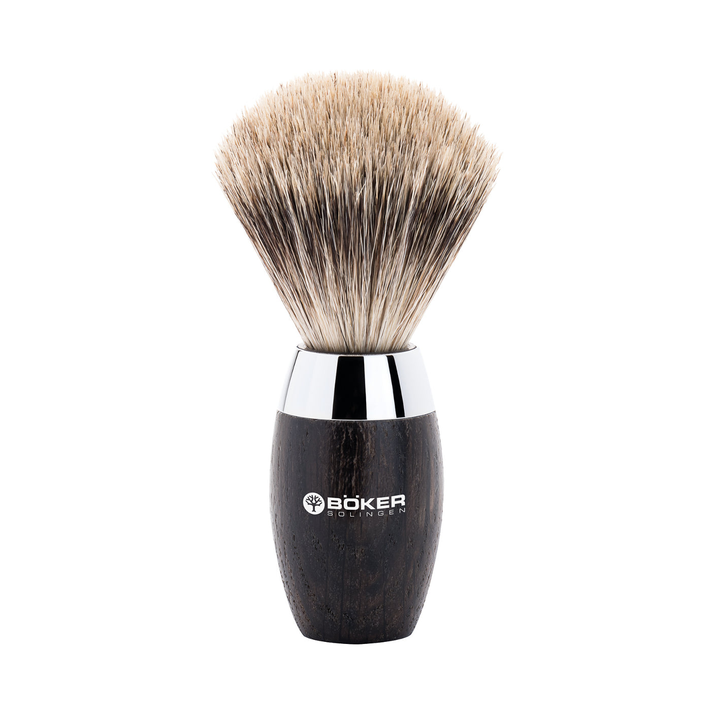 Boker Pure Badger Hair Black Bog Oak Wood Shaving Brush