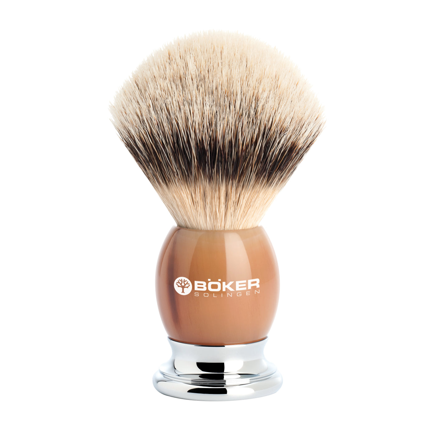 Boker Silvertip Badger Hair Brown Premium Horn Shaving Brush