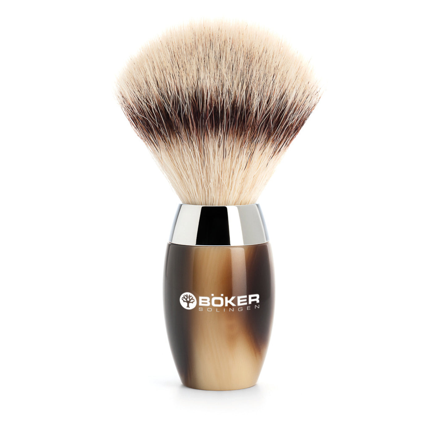 Boker Synthetic Silvertip Modern Horn Resin Shaving Brush