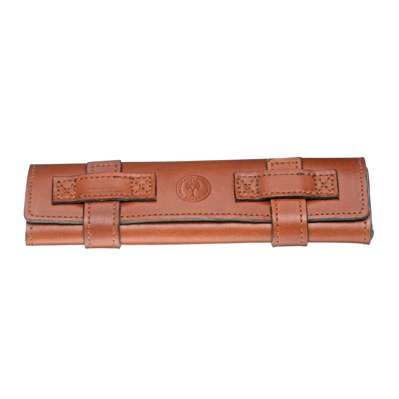 Boker Brown Leather Roll-up Straight Razor Travel Case