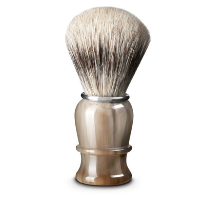 Thiers Issard Blonde Horn Super Badger 23mm Shaving Brush