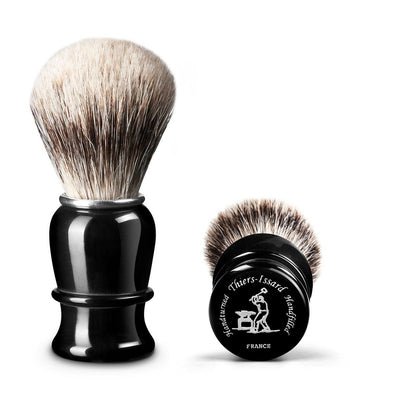 Thiers Issard Black Horn Super Badger 23mm Shaving Brush