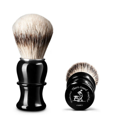 Thiers Issard Black Horn Silvertip Badger 26mm Shaving Brush