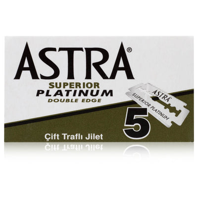 Astra Platinum Green Casing Double Edge Safety Razor 5 Pack