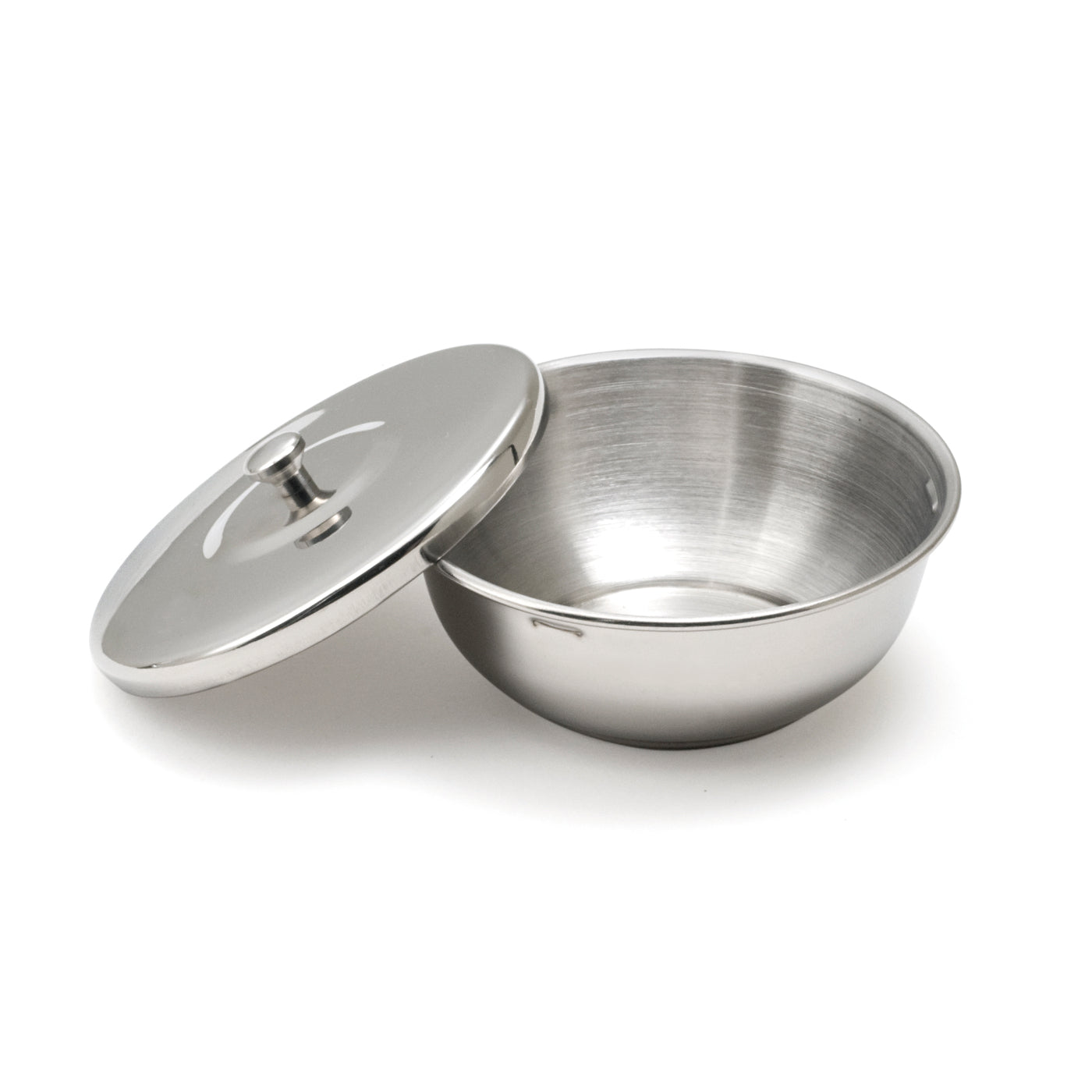 Thiers Issard Stainless Steel Shaving Bowl with Cover