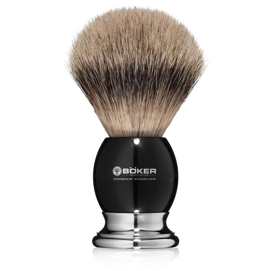 Boker Silvertip Badger Hair Blackwood Shaving Brush