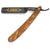 Dovo Diamant Olive Wood Handle Straight Razor, Black Full Hollow Ground Carbon Steel Blade 5/8 Inches