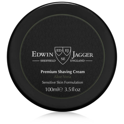 Edwin Jagger Aloe Vera Shaving Cream Tub 3.5 Fluid Ounces