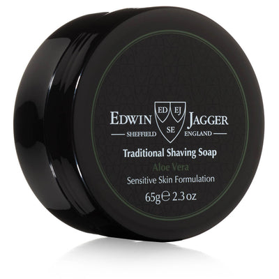 Edwin Jagger Aloe Vera Shaving Soap Travel Tub 2.3 Ounces