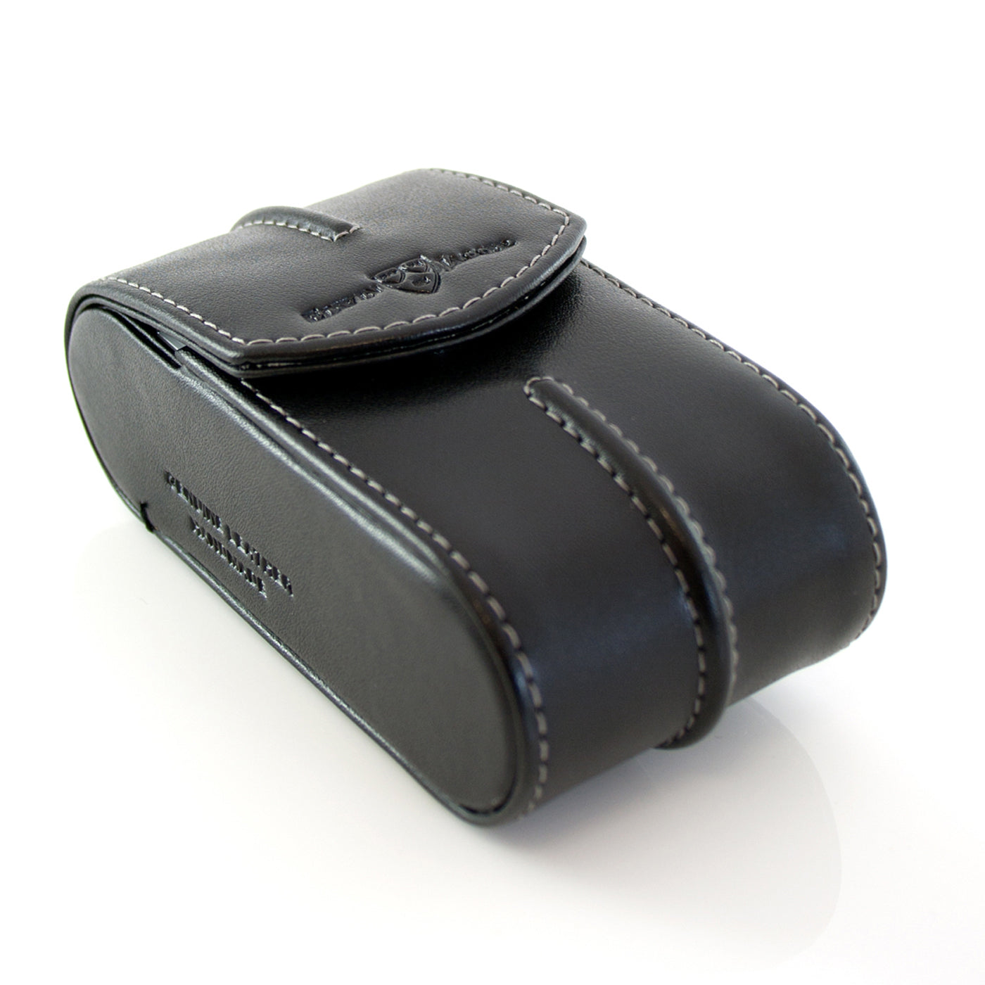 Edwin Jagger Black Leather DE Razor Case (Small)
