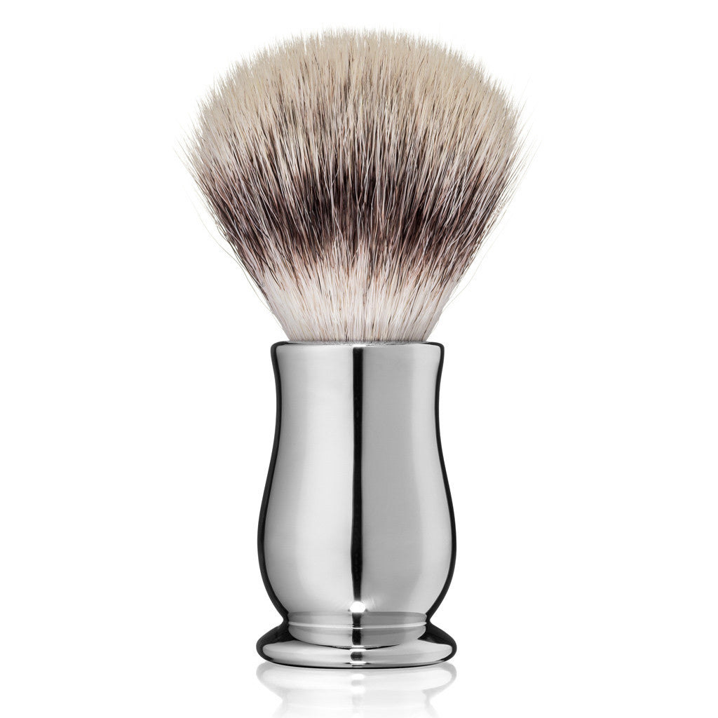 Edwin Jagger Chatsworth Chrome Synthetic Silvertip Shaving Brush