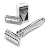 Edwin Jagger Chatsworth Double Edge Safety Razor Polished Chrome Handle