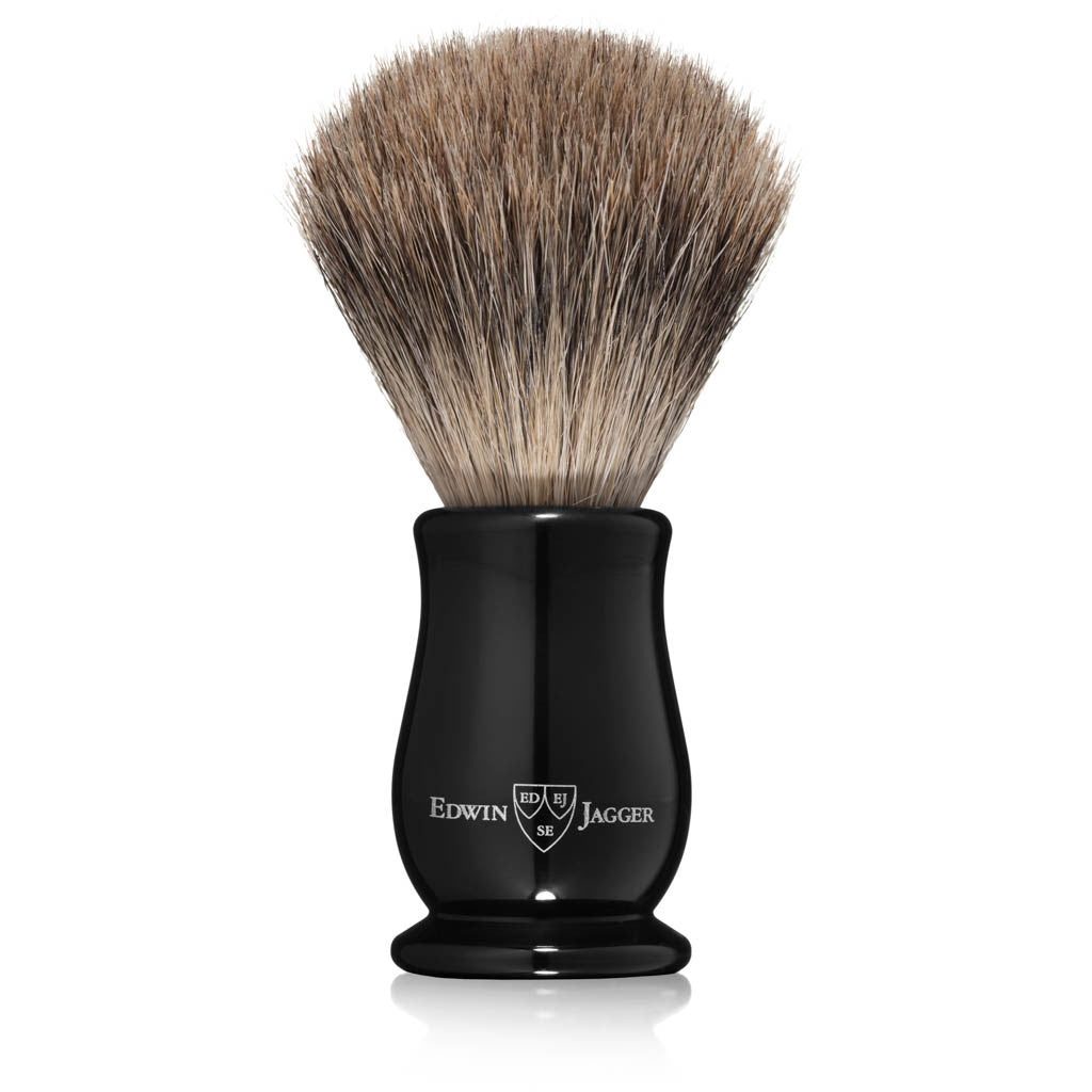 Edwin Jagger Chatsworth Imitation Ebony Best Badger Shaving Brush