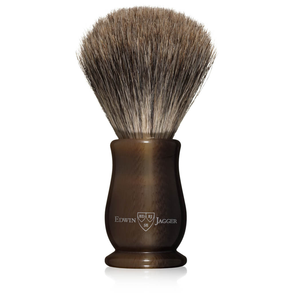 Edwin Jagger Chatsworth Imitation Light Horn Best Badger Shaving Brush