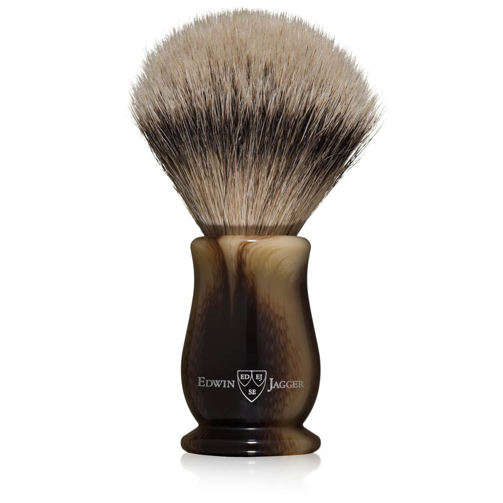 Edwin Jagger Chatsworth Imitation Light Horn Super Badger Shaving Brush