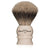 Edwin Jagger Imitation Ivory Medium Silvertip Brush with Stand