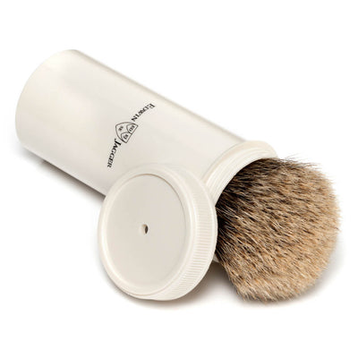 Edwin Jagger Imitation Ivory Super Badger Travel Shaving Brush