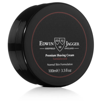 Edwin Jagger Sandalwood Shaving Cream Tub 3.5 Fluid Ounces