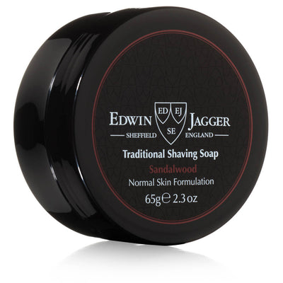 Edwin Jagger Sandalwood Shaving Soap Travel Tub 2.3 Ounces