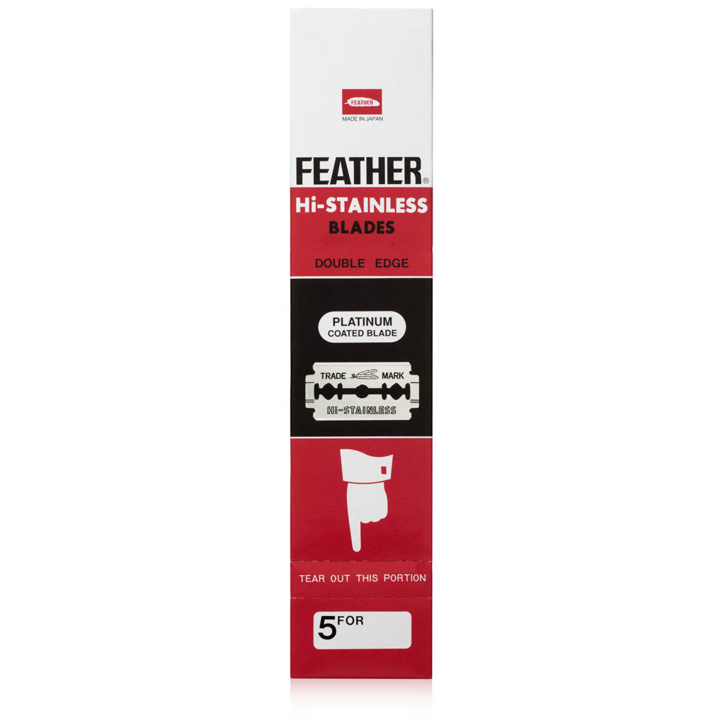 Feather Hi Stainless Double Edge Safety Razor 100 Pack