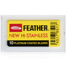 Feather New Hi Stainless Double Edge Safety Razor 10 Pack