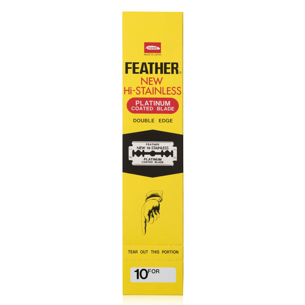 Feather New Hi Stainless Double Edge Safety Razor 200 Pack