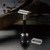 Feather Wooden Handle All Stainless Steel Double Edge Safety Razor With Stand WS-D2S