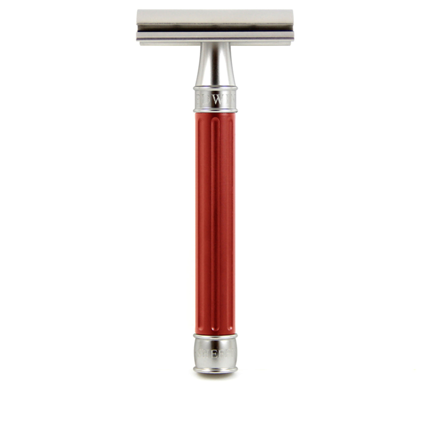 Edwin Jagger 3ONE6 Stainless Steel Double Edge Safety Razor, Red