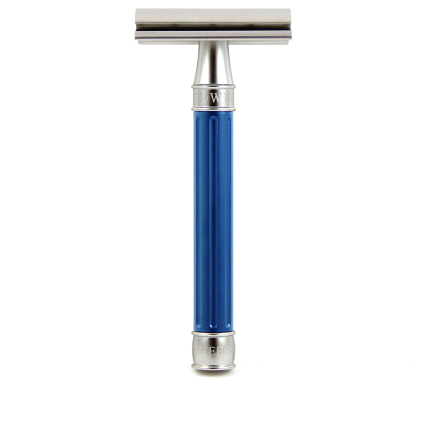 Edwin Jagger 3ONE6 Stainless Steel Double Edge Safety Razor, Blue