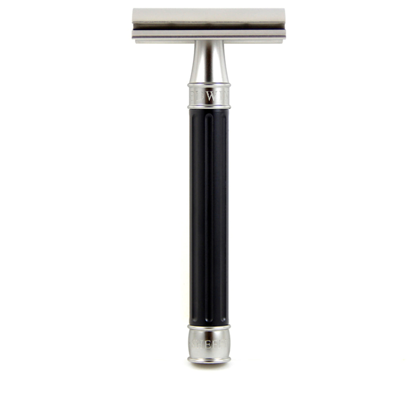 Edwin Jagger 3ONE6 Stainless Steel Double Edge Safety Razor, Black