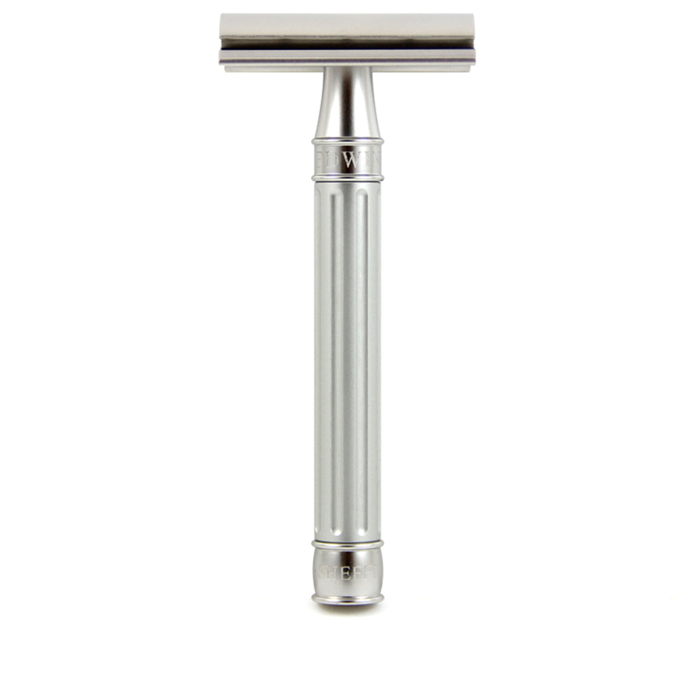 Edwin Jagger 3ONE6 Stainless Steel Double Edge Safety Razor, Silver
