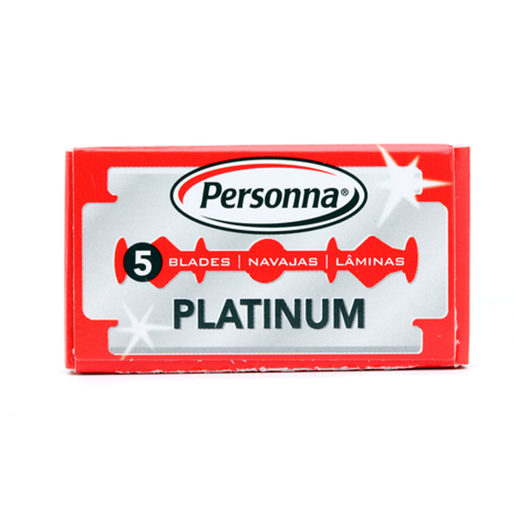 Personna Platinum Double Edge Safety Razor 5 Pack
