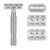 Rockwell 6C - White Chrome Adjustable Safety Razor